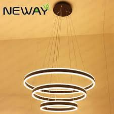 direct indirect round circle led strip chandelier lights whole