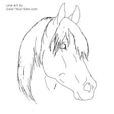 Small Picture Horse Face Coloring Page Coloring Coloring Pages