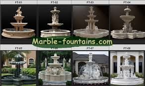 marble garden fountains italian design yellow marble fountain with sculptures and clover shape pond in garden buildings from home garden on