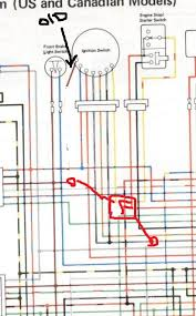 change ignition switch 1982 kz750 help wiring kzrider forum something like this would it work to connect a section of wire red in the badly drawn paint pic from white to brown a 20 amp in line fuse
