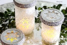 Christmas Decorated Mason Jars Mason Jar Christmas Luminarias House of Hawthornes 90