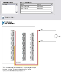 using connection diagrams for ni daqmx tasks national instruments figure 2 sample connection diagram for an analog input voltage task