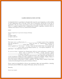 Sample resignation ...