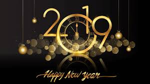 Happy New Year 2019 Clock Fireworks Hd ...
