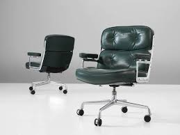 classic office chair. Set Of Two Desk Chairs, In Leather And Metal, By Charles \u0026amp; Ray Classic Office Chair