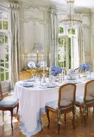 elegant dining french paneled dining room at the house of interior designer ginny magher source the houses of veranda by lisa newsom