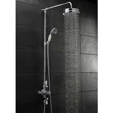 hudson reed topaz triple exposed mixer shower with shower kit fixed head