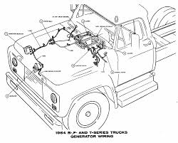 Generator wiring diagrams of 1964 ford b f and t series trucks