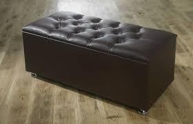 faux leather ottoman. Ottoman Storage Blanket Box In Faux Leather Ottoman-Leather Brown1 N