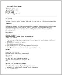 Physical Therapy Resume Gorgeous 60 Special Physical Therapy Resume Ou U98460 Resume Samples