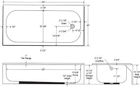 best standard bathtub size in feet elegant standard size for bathroom new design interior