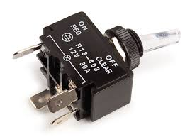 toggle switch illuminated a blade red grote red illuminated 30a 4 blade toggle switch