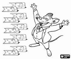 geronimo stilton and cheeses coloring page