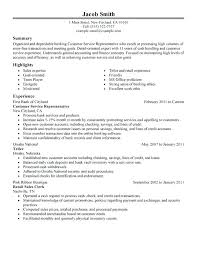 Customer Service Example Resume Resume Sample For Customer Service ...