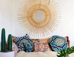 mexican style should put a big smile on your face this whimsical sunburst mirror is made from bamboo and wicker image justina blakeney home