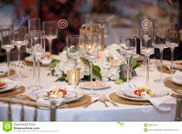 Reception Table Set Up Elegant Table Set Up For Wedding Reception Stock Image