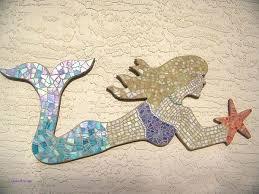 diy mermaid wall decor unique wooden ideas art canvas of de