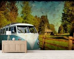 volkswagen van wallpaper. vw camper blue wallpaper mural volkswagen van
