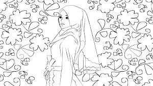 Muslim Coloring Pages Printable Coloring Pages Book Printable Girl