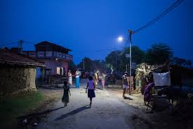 solar power to light up streets in 30 villages india