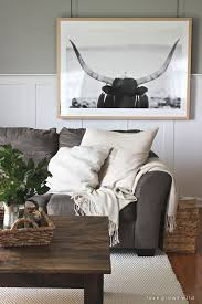instead of a gallery wall try a large piece of art that makes a big