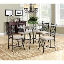 Glass top dining sets Grey Piece Glass Top Vintage Metal Dining Set Home Kitchen Breakfast Furniture Nook Ebay Piece Glass Top Vintage Metal Dining Set Home Kitchen Breakfast
