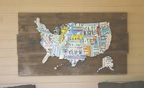 on license plate map wall art with 45 ideas of license plate map wall art
