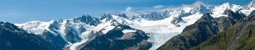 arial view of fox glacier west coast new zealand