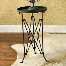 black metal side table design of round metal accent table french provincial small round black metal