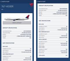 Delta Airlines Aircraft Seating Chart First Look At Deltas Refreshed 767 400er Seating Configuration