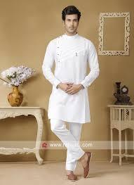 Half White Kurta Design Stylish White Color Kurta Set