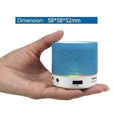 Loa Bluetooth Mini Đèn LED Nhấp Nháy - Đủ Màu - Hỗ Trợ USB/FM/Thẻ nhớ TF/ bluetooth - Loa Bluetooth Nhãn hiệu No Brand