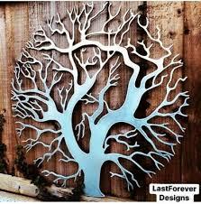 tree of life metal wall art woodland