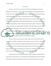 a civil action essay example topics and well written essays  a civil action essay example