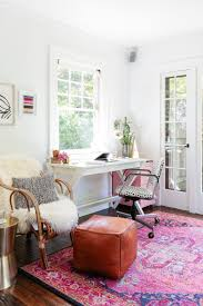 colorful home office. a youthful u0026 bright pasadena home colorful office