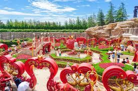 alice in wonderland maze in fantasyland at shanghai disneyland