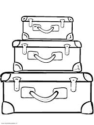 Kleurplaat Koffer Google Zoeken Bc Zomervakantie Kleurplaten