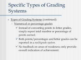 Specific Types of Grading Systems