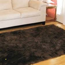 brown faux fur rug inspirational dark brown faux fur area rug 5 x 7 washable non