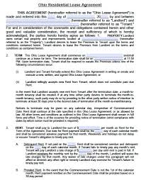 ohio lead based paint disclosure form free ohio standard residential lease agreement pdf template
