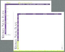 Weekly Meal Planning Calendar Templates Printable By