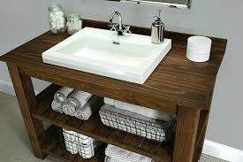 Bathroom Accos 36 Inch Rustic Bathroom Vanity Quartz White Marble