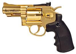 "Dan Wesson CO2 BB Revolver, Gold, 2.5"". Air guns - PyramydAir.com"