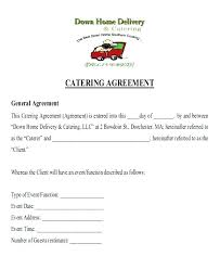 Catering Contract Agreement Mesmerizing Catering Estimate Template Sample Catering Quote Template Catering