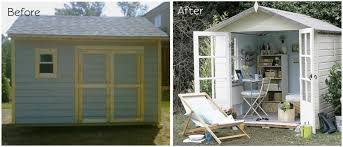 outdoor shed office. Home Office Shed. Before: This Diggerslist Storage Shed Is Ready To Be Diy\\ Outdoor A