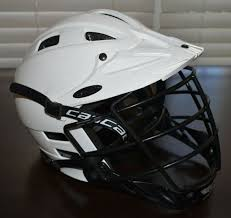 Cascade Clh2 White Lacrosse Mll Helmet Size Xs Black Mask Meet Nocsae Standard