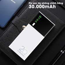 Sạc dự phòng-Sạc dự phòng Smart Power Bank 30000 mAh 2 cổng USB Sạc nhanh,  nhỏ gọn tiện lợi