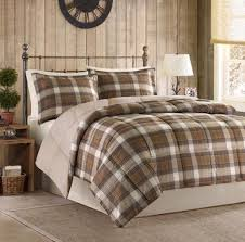2 piece twin comforter set woolrich bedding tan plaid brown lodge cowboy country