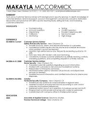 Customer Service Advisor Emergency Services Contemporary Resume