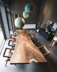jesse love the plank table not the chairs tho think bench maybe better chairs formel wood table done in exotic wood called either suar and our oxidized